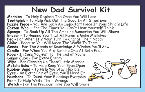 New Dad Dad To Be Survival Kit In A Can